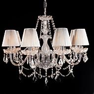 lysekrone krystall luksus moderne leve 8 lys