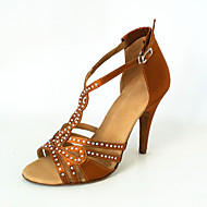 Customized Women's Satin T-Strap Latin / Ballroom Dance Performance Shoes With Buckle (More Colors)