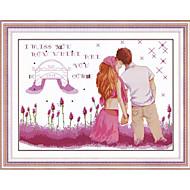 meian diy unvollendet Baumwolle Lavendel lieb 11ct / inch Stich gestickten Tuch-Größe: 73 * 53cm