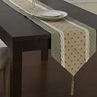 Vert Mélange Poly/Coton Rectangulaire Chemins de table