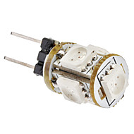 G4 1W 5x5050SMD 65-75LM 赤色LEDコーン型電球 (12V)