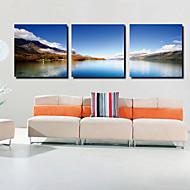 Stretched Canvas Art Landscape Distance Set of 3