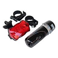 פנס קדמי לאופניים / פנס אחורי לאופניים LED רכיבת אופניים עמיד למים / תאורה אחורית AAA Lumens סוללה רכיבה על אופניים-תאורה