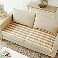 Cotton Herringbone Lace Sofa Cushion Mats 70*120