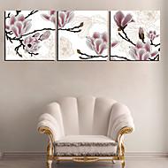 Reproduction transférée sur toile Art Floral rêveur Ensemble Fleur de 3