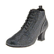 Customized Women's Sparkling Glitter Upper Dance Shoes With Lace-up(More Colors)