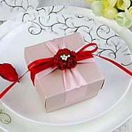 Rosa zugunsten Box mit Red Ribbon Schärpe und Blumen (Set von 30)