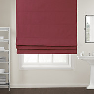Modern Wine Red Solid Roman Shade