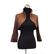 Nice Long Sleeve Standing Collar Stretch Satin Evening/Casual Wrap/Evening Jacket(More Colors) Bolero Shrug