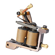 Carbon Steel Casting Dual Coils 10 Wraps Tattoo Machine for Shader
