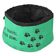 Katze Hund Schalen & Wasser Flaschen Haustiere Schüsseln & Füttern Klappbar rot grün blau Gewebe