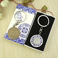 Personlig Rund nyckelring onåd Gift Box (Set of 6)