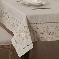 A Motifs Lin/Viscose Carré Nappes de table