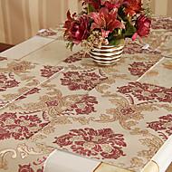 Ensemble de 4 rouge de style européen et napperons florale d'or