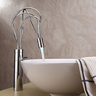 Sprinkle® by Lightinthebox - Contemporary Chrome Finish Single Handle LED Bathroom Sink Faucet(Tall)