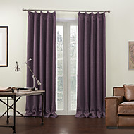 (Two Panels) Modern Lavender Solid Lined Blackout Curtain