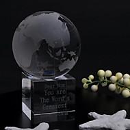 geschenken bruidsmeisje geschenk gepersonaliseerde wereld kristallen tafel scherm aandenken