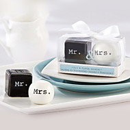 Mr. & Mrs. Ceramic Salt & Pepper Shakers