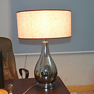 60W E27 Table Lamp with Black Shade and Vase Style Lamp Carrier
