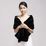 Fur Wraps / Wedding  Wraps Shawls Faux Fur Black Party/Evening / Casual