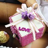 Bowknot는 꽃 장식 나무 사탕 상자 50 리본 세트