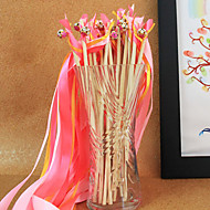 Pink Wedding Ribbon Wand--(Set of 10) Coral Wedding
