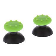 PS3의 무선 컨트롤러 + 미끄러짐 방지 고무를위한 보충 3D 로커 조이스틱 모자 포탄 버섯 모자