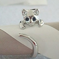 Women's  Cat Shaped Alloy Ring
