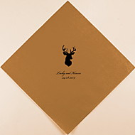 Henkilökohtainen Wedding lautasliinat Deer Head (More Colors)-sarja 100