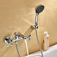 Sprinkle® by Lightinthebox - Contemporary Chrome Finish Bathtub Faucet with Hand Shower