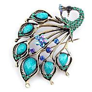 Women's  European and American fashion beautiful peacock brooch (random color)