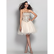 TS Couture® Cocktail Party / Homecoming / Prom / Holiday Dress - Short Plus Size / Petite A-line / Princess Strapless Short / Mini Tulle withCrystal