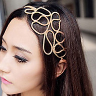 Z&X®  Hollow Braided Hair With Golden Hair Band