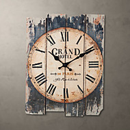 "15""H Country Style Brown Wall Clock"