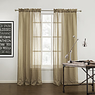 TWOPAGES® Two Panels  Modern Stripe Cozy Sheer Curtains Drapes