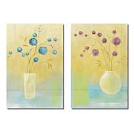 Art. trasferimenti su tela Natura morta fiori in vaso Pablo Esteban Set di 2