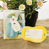 flip-flop equipaje de la etiqueta del favor