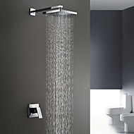 Sprinkle® by Lightinthebox - Chrome Wall Mount Rain Single Handle Shower Faucet
