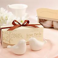 elsker fugler keramiske salt og pepper shakers bryllup favør