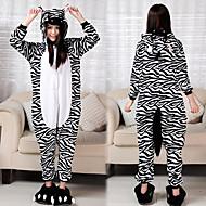 Беззаботный Zebra фланели взрослых Kigurumi пижамы