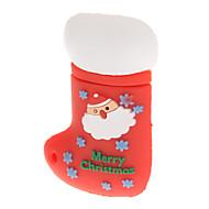 Plastové vánoční punčocha Model USB 4GB