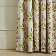 (Two Panels) Michelle Luxury® Country Colorful Leaves Print Eco friendly Curtain