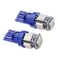 2 pezzi T10 194 168 W5W 1.2W 5x5050SMD 465-470NM Light Blue LED auto della coda del cuneo della luce laterale