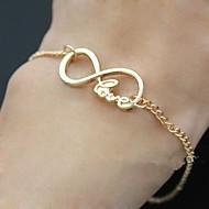shixin® letras de la palabra amor pulsera de cadena infinito