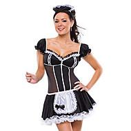 Sexy Girl poliestere nero cameriera uniforme