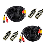 2 Pack 150ft Feet Security Camera BNC RCA Video Power Cables