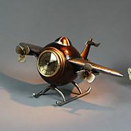 """14 """"Retro Tipo de Aeronave Brown Tabletop Relógio"""