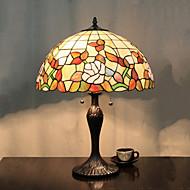 Paraply Design Bordslampa, 2 ljus, Tiffany Resin glasmålning