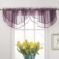 "Elegant Purple Foss Valance 26Wx34 ""L (One Piece)"