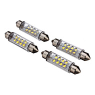 2Pcs 42mm 8-LED 30-80LM White Light LED Bulb for Car (12V)